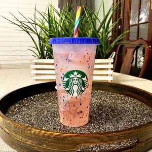 Starbucks Color Changing Confetti Cup Rainbow